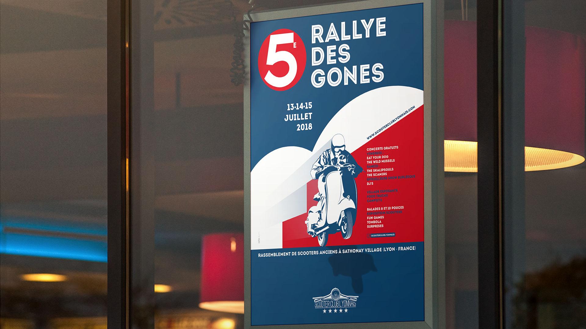 Affiche événement Rallye des Gones 2018