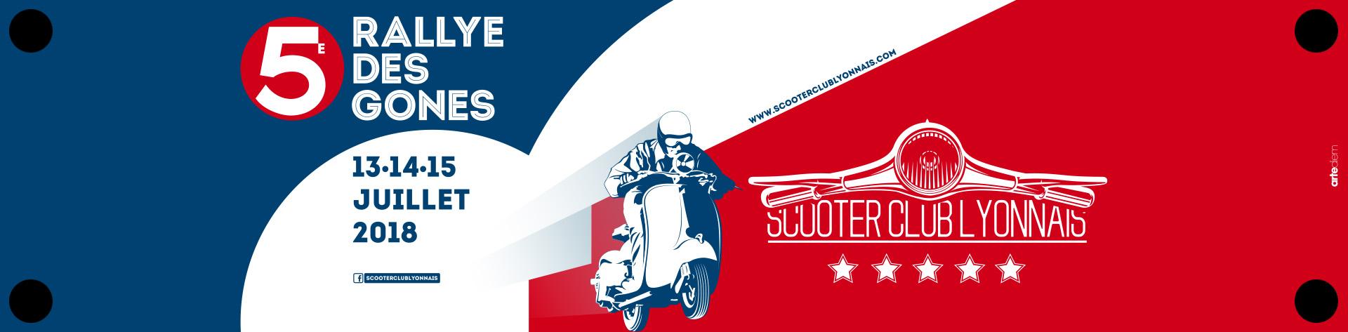 Banderole de tablier Vespa Rallye des Gones 2018