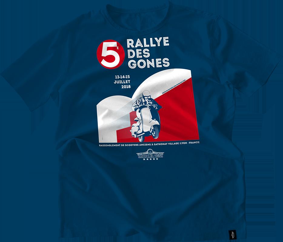 T-Shirt personnalisé sérigraphie  Rallye des Gones 2018