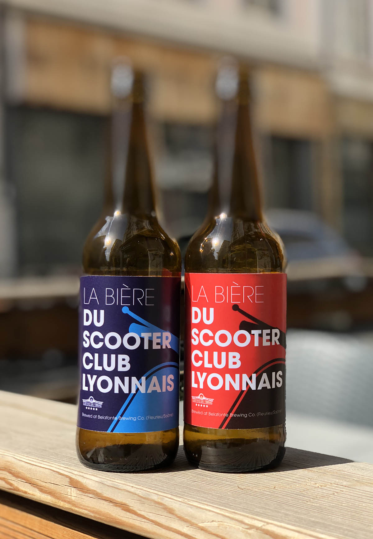 Étiquettes bière du Scooter Club Lyonnais maquettes