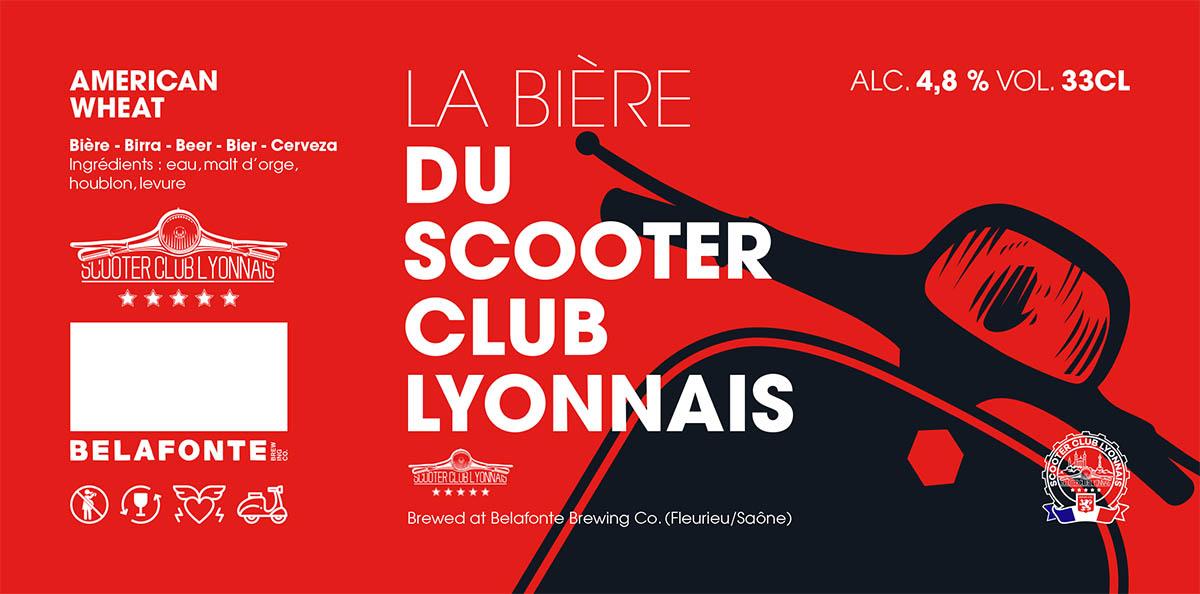 Etiquette bière du Scooter Club Lyonnais